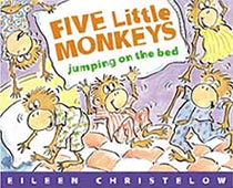 Five Little Monkeys Jumping on the Bed Hardcover Picture Book