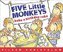 Five Little Monkeys Bake a Birthday Cake Hardcover Picture Book