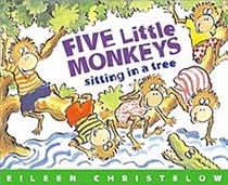 Five Little Monkeys Sitting in a Tree Hardcover Picture Book