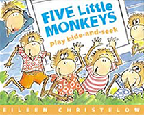 Five Little Monkeys Play Hide-and-Seek Hardcover Picture Book