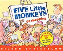 Five Little Monkeys Go Shopping Hardcover Picture Book