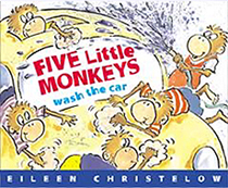 Five Little Monkeys Wash the Car Hardcover Picture Book