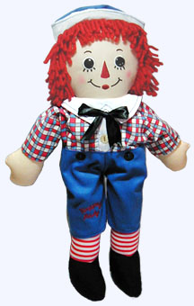16 in. Raggedy Andy Soft Doll