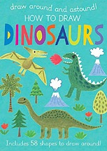 How to Draw Dinosaurs Hardcover Instruction Book