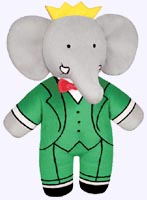 9 in. Soft Babar Doll