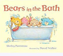 Bears in the Bath Hardcover Picture Book