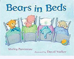 Bears in Beds Hardcover Picture Book
