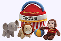 7 in. long Curious George Circus Playset