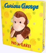Curious George Pat-A-Cake Board Book with built in puppet