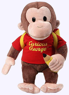 16 in. Curious George School Plush