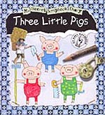 Three Little Pigs Faux Diary Hardcover Pictue Book