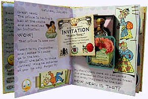 Inside page from Cinderella Faux Diary Hadcover Picture Book
