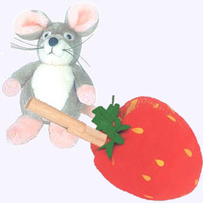 7 in. The Little Mouse and The Red Ripe Strawberry Plush