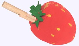 6 in. Red Ripe Strawberry Plush Toy