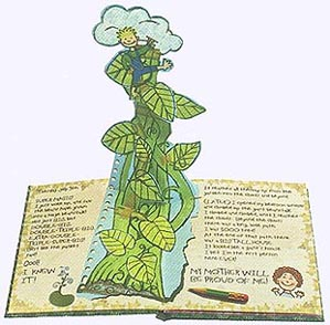 Inside page from Jack and the Beanstalk Faux Diary Hardcover Pictue Book