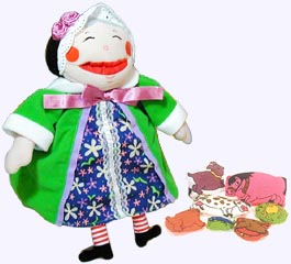 12 in. Old Lady Who Swallowed a Fly Plush Doll