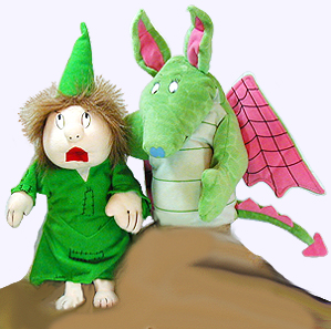 11 in. Princess and the Dragon Puppets