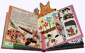 Inside page from Little Red Riding Hood Faux Diary Picture Book