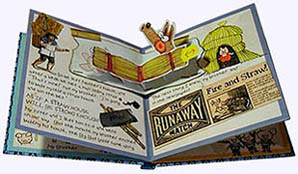 Inside page from Three Little Pigs Faux Diary Hardcover Pictue Book
