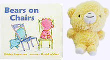 Bears on Chairs Board Book and Little 5 in. Plush Bear
