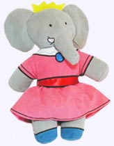 Babar Plush Doll And Celeste Plush Doll