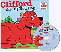 Clifford the Big Red Dog Paper Back Picture Book with CD