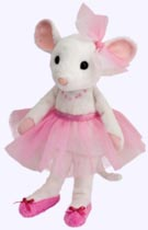 9 in. Ballerina Mouse Soft Doll