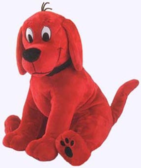 17 in. Large Sitting Clifford the Big Red Dog Plush Storybook Character