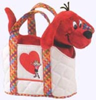 8 in. Clifford Plush in a tote bag.
