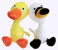 9 in. Original Duck and Goose Plush Pair