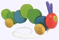12 in. Very Hungry Caterpillar Wood Pull Toy
