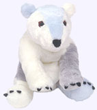 & in. Polar Bear Plush Doll