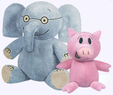 7 in. Elephant and 5 in. Piggie Soft Toys