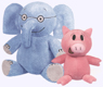 Elephant and Piggie Plush Dolls