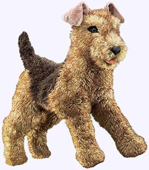 20 in. Airedale Terrier Hand Puppet