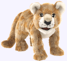 18 in. Lion Cub Hand Puppet
