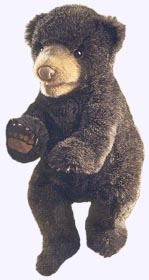 14 in. Black Bear Cub Hand Puppet