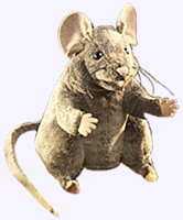 8 in. Brown Mouse Puppet
