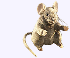 8 in. Field Mouse Hand Puppet