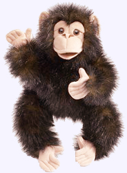 15 in. Baby Chimpanzee Puppet