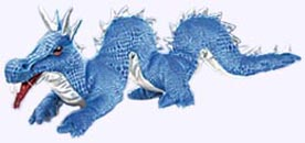 16 in. Blue Dragon Puppet