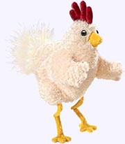 9 in. Funky Chicken Hand Puppet