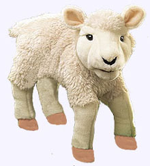 12 in. Lamb Hand Puppet