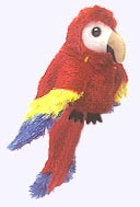 7 in. Scarlet Macaw Finger Puppet