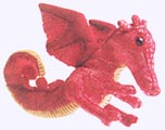 6 in. Red Dragon Finger Puppet