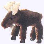 6 in. Moose Finger Puppet