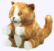 8 in. Orange Tabby Kitten Hand Puppet