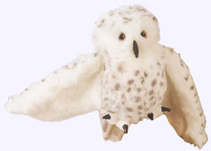 10 in. Snowy Owl Puppet with 17 in. wingspan