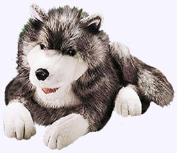18 in. Timber Wolf Hand Puppet