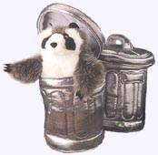 5 in. Raccoon in Can Finger Puppet